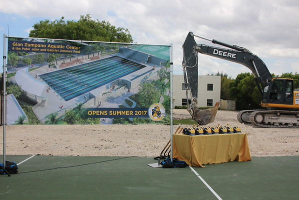 Groundbreaking and Blessing Ceremony  -  Gian Zumpano Aquatic Center & the Peter John and Gabriel Jimenez Pool