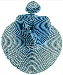 physical model of a chaos theory, crocheted by an english mathemetician