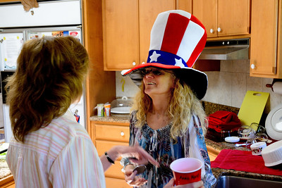 Memorial Day potluck at Sally's 2014
