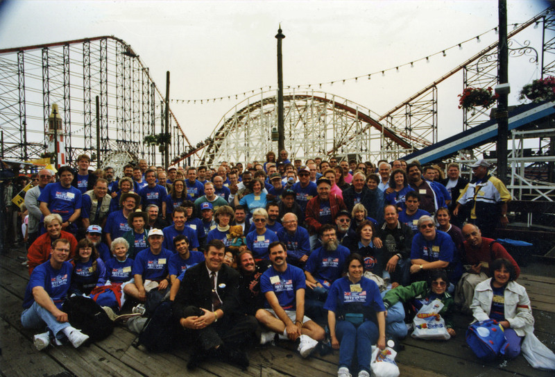 ACE U.K. Preservation Tour, held July 5–14, 1996. <br /> Photo taken at Blackpool Pleasure Pier — Tim Baldwin collection.