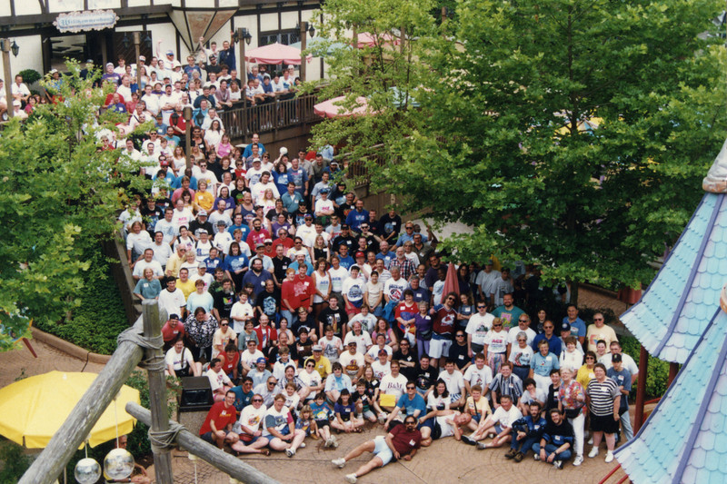 Coaster Con XX, held June 8–13, 1997 at Busch Gardens Williamsburg and Kings Dominion.<br /> Photo by Tim Baldwin, taken at Busch Gardens.