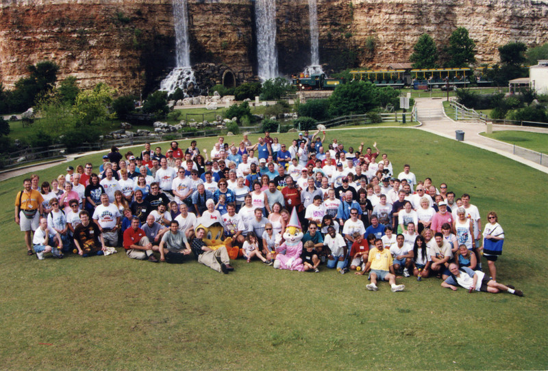 Coaster Con XXII, held June 20–23, 1999, at Fiesta Texas and SeaWorld San Antonio.<br /> Photo taken at Fiesta Texas by S. Madonna Horcher.