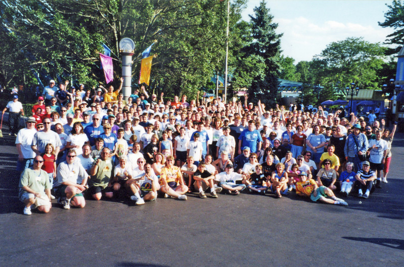Coaster Con XXIII, add-on day held June 23–24, 2000, at Paramount's Kings Island.<br /> Photo by S. Madonna Horcher.