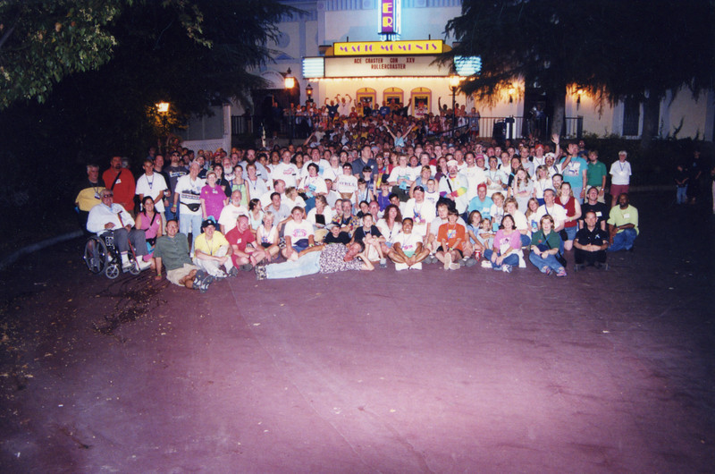Coaster Con XXV, held June 16–21, 2002, at Six Flags Magic Mountain, Knott's Berry Farm and Adventure City.<br /> Photo taken at Six Flags Magic Mountain by S. Madonna Horcher.