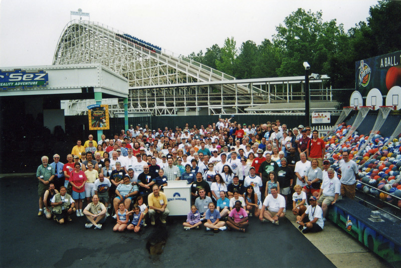 Coaster Con XXVI, held June 15–20, 2003, at Busch Gardens Williamsburg and Kings Dominion.<br /> Photo taken at Kings Dominion by S. Madonna Horcher.