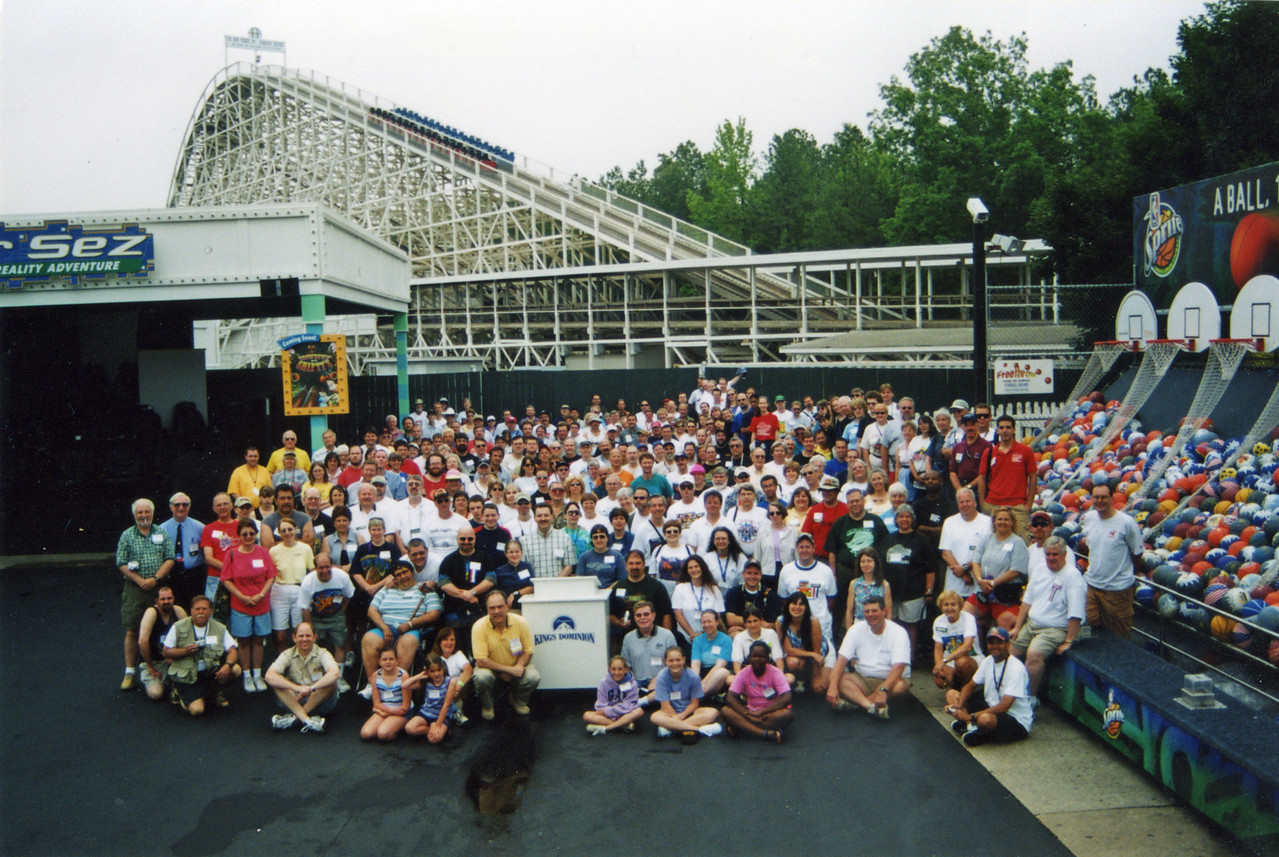 Coaster Con XXVI, held June 15–20, 2003, at Busch Gardens Williamsburg and Kings Dominion. Photo taken at Kings Dominion by S. Madonna Horcher.