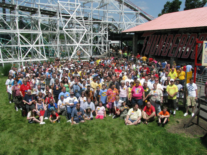 Coaster Con XXXIII, held June 20-25, 2010 at Kennywood (photo), Idlewild, Conneaut Lake Park and Waldameer.<br /> Photo by S. Madonna Horcher.