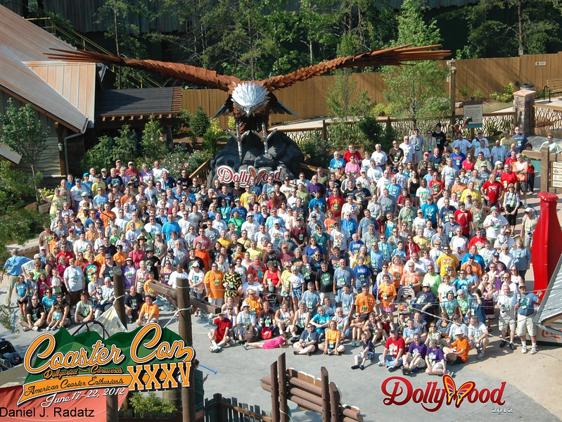 Coaster Con XXXV held June 17 to 22, 2012 at Dollywood and Carowinds.<br /> Photo courtesy of Dollywood