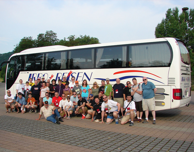 """ACE Central Europe, week one, held July 19 to July 26. <br /> Photo of Bus #3 """"Achtbaan"""" taken by Tim Baldwin, July 24, at Erlebnispark Tripsdrill."""