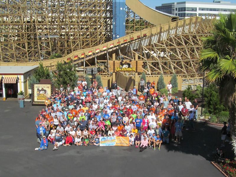 Coaster Con XXXVII, held June 15 – 20, 2014, at California's Great America, Six Flags Discovery Kingdom, Santa Cruz Beach Boardwalk and Gilroy Gardens. Photo taken at California's Great America, by S. Madonna Horcher.