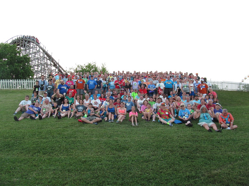 Coaster Con XXXIX held June 19 to 23, 2016 at Six Flags St. Louis and Holiday World. Photo, taken June 19, by S. Madonna Horcher, at Six Flags St. Louis.
