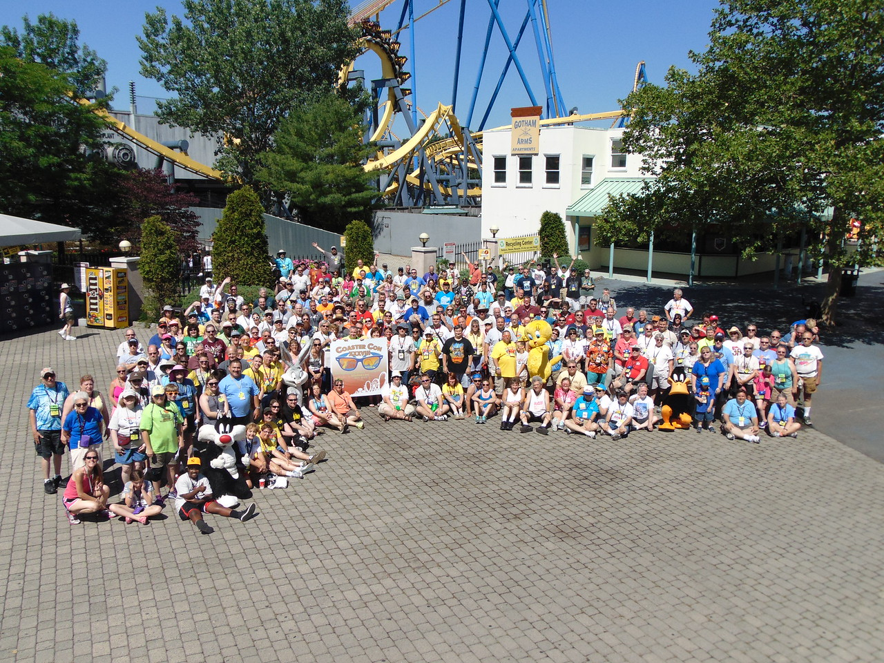 Coaster Con XXXVIII, held June 21 to 26 at Six Flags Great Adventure, Storybook Land and Morey's Piers. Photo, by S. Madonna, Horcher,  taken June 22, 2015 at Six Flags Great Adventure