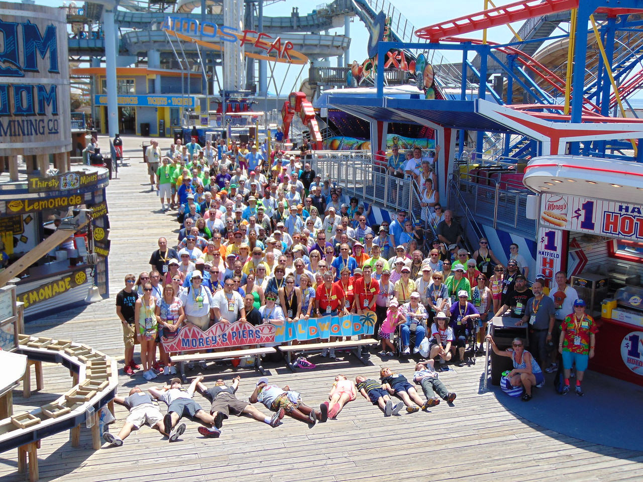 Coaster Con XXXVIII, held June 21 to 26 at Six Flags Great Adventure, Storybook Land and Morey's Piers. Photo, by S. Madonna, Horcher,  taken June 25, 2015 at Morey's Piers