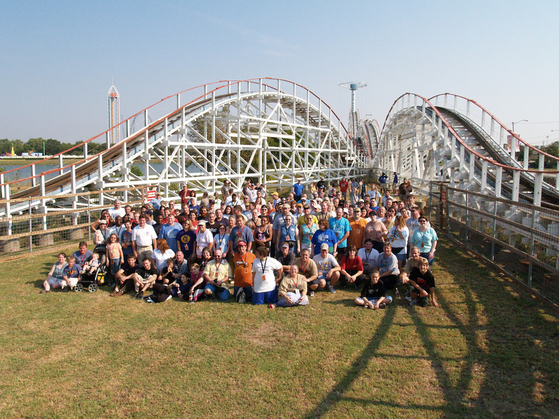 2005 Lone Star Coasterthon, held September 10–11, 2005, at Six Flags Over Texas.<br /> Photo by S. Madonna Horcher.
