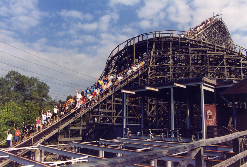 2004 Lone Star Coasterthon, held September 25–26, 2004, at Six Flags Over Texas.<br /> Photo by David Lipnicky.