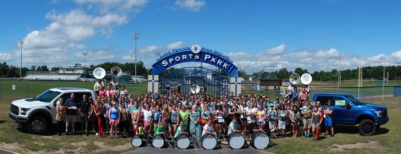 "Lasco Ford ""Drive 4Ur School"" Donation Photo with Lake Fenton High School Band"