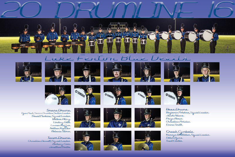2016 Percussion Team Poster