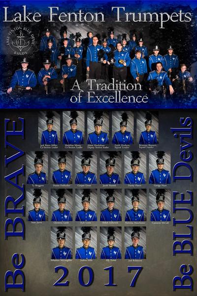 Lake Fenton High School Band Trumpets 2017/18