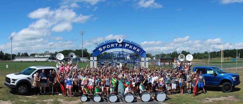 "Lasco Ford ""Drive 4Ur School"" Donation Photo with Lake Fenton High School Band version 2"