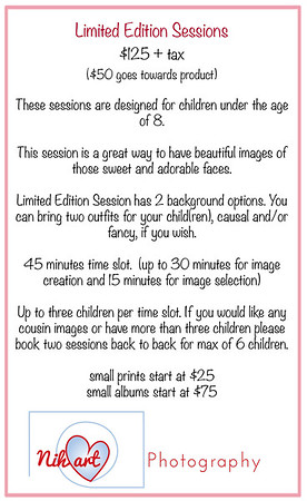 Limited Edition Session Info