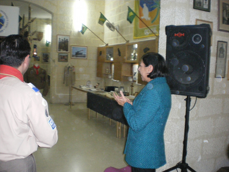 Minister Dolores Cristina impressed with the appearance of out exhibition :)