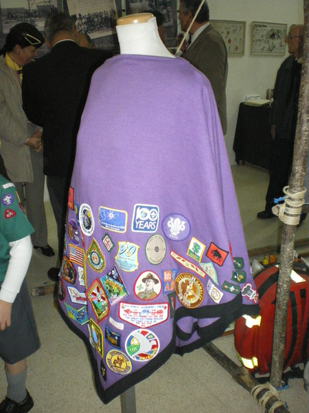 Skippers Campfire blanket filled with manyyy manyyy badges!!