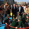 PM Lawrence Gonzi & Minister George Pullicino spending some time with the Sliema Cub Scouts - Photo: DOI