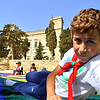 Jake relaxes with Verdala Palace in the background :)