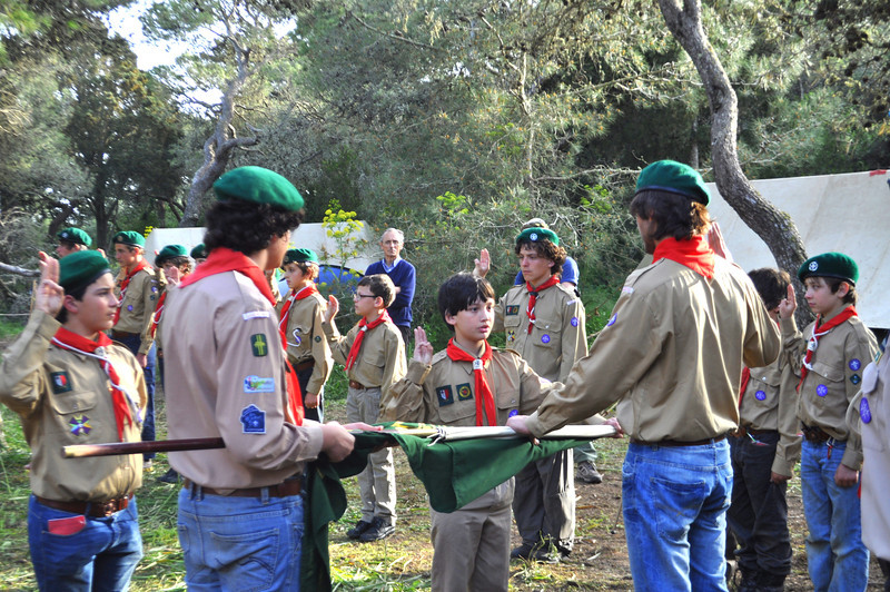 Jason renews his Promise in Scouts