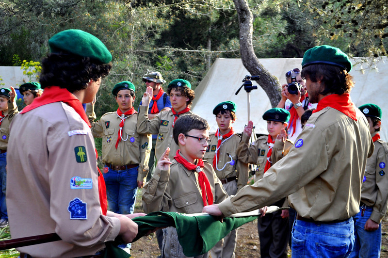 Michele promises to continue doing his best in the Troop as he renews his Scout Promise