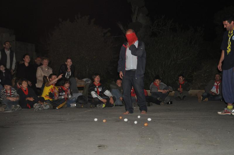 Mr Cassar volunteers to take part in this short stunt ;)