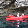 leaders explore the caves around Comino..