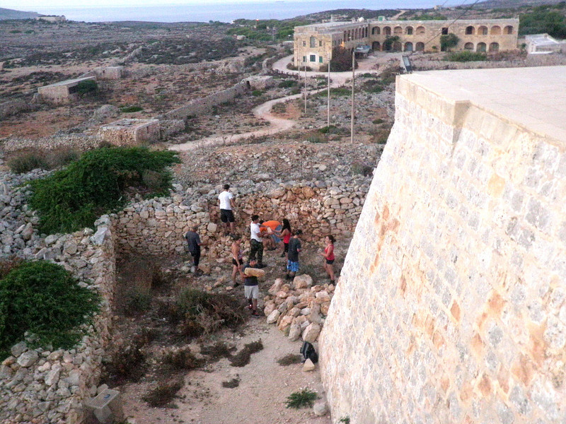 SERVICE! As Scouts we must help give back and the Sliema Leaders volunteered to rebuild a damaged rubble wall surrounding the moat of the Santa Marija Comino Tower
