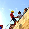 A young Edwardian challenges himself to abseil the bastions of St Edward's College with the 1st Sliema Scouts (Ventures)