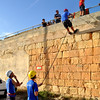 Sliema Scouts abseiling