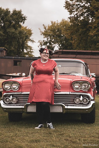 Event: Monsters Model Motars (MMM) 2019 Model: Sam Gerrits -  Llamalicious Cosplay Hair: Self MUA: Self SFX MUA:  Photographer: John Penokie / EyeOnYouPhotos.com  Car Year: 1958 Make: Chevy Model: Belair Owner: Jesse Greet