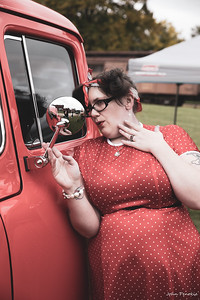 Event: Monsters Model Motars (MMM) 2019 Model: Sam Gerrits -  Llamalicious Cosplay Hair: Self MUA: Self SFX MUA:  Photographer: John Penokie / EyeOnYouPhotos.com  Car Year: 1956 Make: Ford Model: F100 Owner: Kerry Johnson