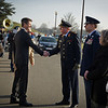 09 March, 2012. Crown Prince Frederik of Denmark visits SHAPE. Honor guard with SACEUR, Admiral James Stavridis. Picture by Sgt Emily Langer - DEU-Army.
