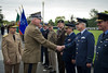 Polish Chief of Defense, Generał Mieczysław Cieniuch (2nd from the left), escorted by Admiral James Stavridis, Supreme Allied Commander Europe, meets with National Military Representatives, during the welcome ceremony at Supreme Headquarter Allied Power Europe, Belgium, on the 29 June 2012. (NATO photo by French Air Force MSgt Edouard Bocquet)