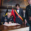 General Curtis M. Scaparrotti signs the Guestbook in Hotel de Ville, Mons on 1 April 2017. (NATO Photo by Sgt. 1st Class Stefan Hass - DEUA)
