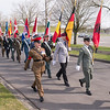 The SHAPE Honour Guard enters the Field during the 50th Anniversary of the Surpeme Headquarters Alied Powers Europe in Mons, Belgium on 31 March 2017. (NATO Photo by Sgt. 1st Class Stefan Hass – DEUA)