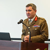 Deputy Supreme Allied Commander Europe, General Sir James Everard, adresses the audience during the 50th Anniversary of the Supreme Headquarters Allied Powers Europe in Mons, Belgium on 31 March 2017. (NATO Photo by Sgt. 1st Class Stefan Hass – DEUA)