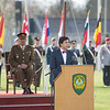 The Mayor of Mons, Mr. Elio di Rupo, talks about the good relation Mons and SHAPE had in the last 50 years and that this relation will continue for the next 50 years. (NATO Photo by Sgt. 1st Class Stefan Hass – DEUA)