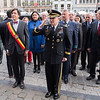 Supreme Allied Commander Europe, General Curtis M. Scaparrotti and the Mayor of Mons, Mr. Elio di Rupo during the National Anthem of Belgium.<br /> (NATO Photo by Sgt. 1st Class Stefan Hass - DEUA)