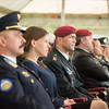 Authorities from the City of Mons and the Supreme Headquarters Allied Powers Europe attending the 50th Anniversary of SHAPE in Mons, Belgium on 31 March 2017. (NATO Photo by Sgt. 1st Class Stefan Hass – DEUA)