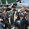 U.S. Air Force Gen. Frank Gorenc, Commander of NATO Allied Air Command, speaks to a group of reporters at the Air Base of the Lithuanian AIr Force in Siauliai, Lithuania April 30, 2014. General Gorenc was in Siauliai to oversee the handover of the Baltic Air Policing mission between a group of U.S. Air Force Airmen to pilots and suppport personnel from the Royal Air Force and Polish Air Force. (Photo by U.S. Air Force Staff Sgt. Andrew Davis)