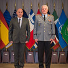 General Werner Freers, Chief of Staff-SHAPE is presenting Commendation Awards on 20 January 2014. (NATO photo by Sgt. Emily Langer/ DEU Army)