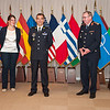 13 June 2012 - COS Commendation Awards in Protocol Lounge. Adjutant Chief Frederic Joury, French Army, of Operation and Intelligence Division, joined by his companion Ms. Annabelle Thibault. (NATO photo by Ger. Army Sgt. Emily Langer)