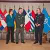 13 June 2012 - COS Commendation Awards in Protocol Lounge. Lt.Col. Jesper Momme, Danish Army, of Operations and Intelligence Divsion, joined by his wife Mrs. Lilian Momme. (NATO photo by Ger. Army Sgt. Emily Langer)