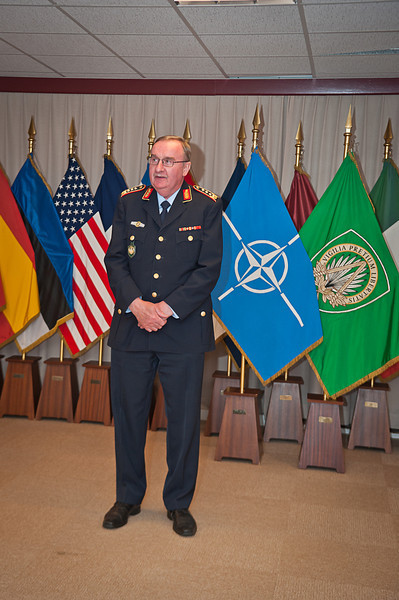 13 June 2012 - Gen. Manfred Lange, Chief of Staff welcomed COS Commendation Awards in Protocol Lounge. (NATO photo by Ger. Army Sgt. Emily Langer)